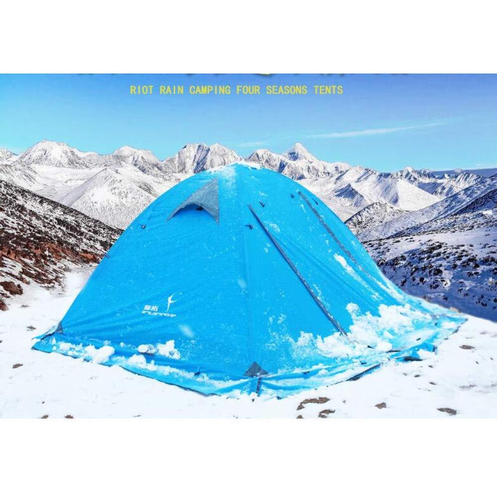 Ashuang 2-3 Personne 2 Couche en Aluminium Pôle Coupe-Vent Imperméable Randonnée Voyage Plage Pêche Camping en Plein Air Hiver Neige Jupe Tente a1 -