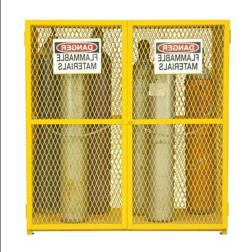 71.75'' H x 60'' W x 30'' D Steel and Iron Vertical Cylinder Storage Cabinet