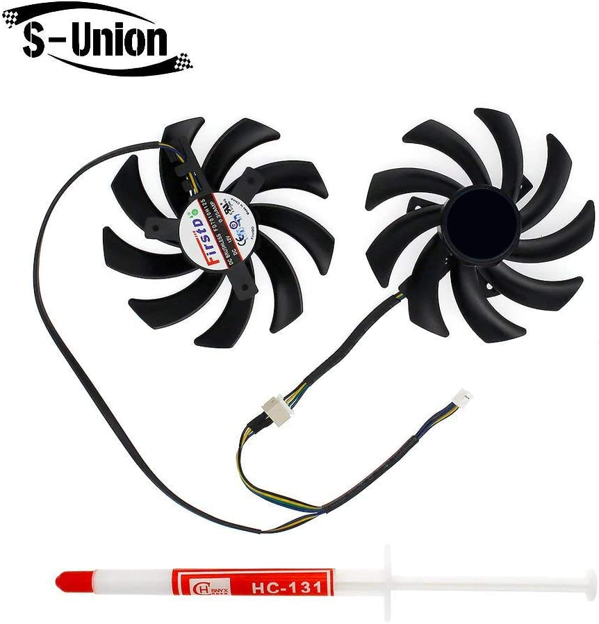 S-Union New Replacement Laptop CPU Cooling Fan for MSI R9-290X 280X 270X R7-260X GTX 760 770 Seires Part Number : PLD10010S12HH DC12V 0.40A (with Thermal Paste)