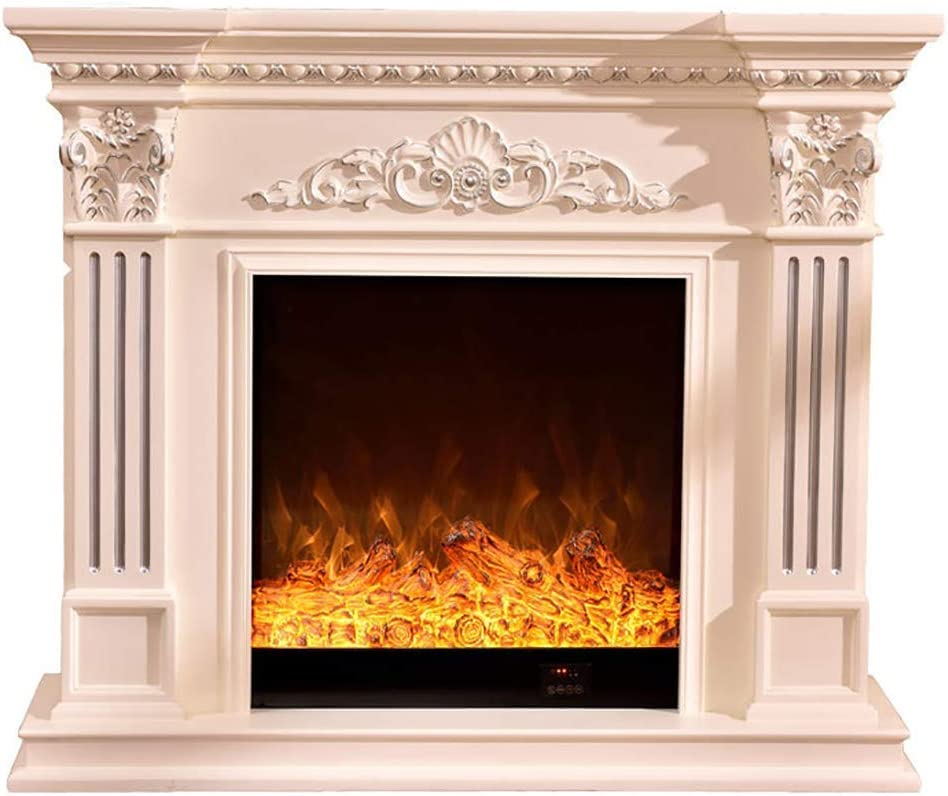 Electric Fireplace Heater Carved Decorative Cabinet Mantle Electric Fireplaces Led Simulation Flame Fireplace Heater Free Standing Fireplaces A Amazon Ca Home Kitchen