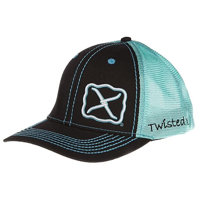 Twisted X Brand Black and Turquoise Adjustable Snapback Hat - XC-23 ... b8a71d38d1c