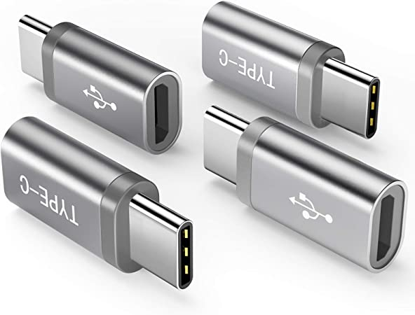 LG V30 G5 G6 Moto Z2 Play More Allows Micro USB to USB-C Data Transfer USB-C Male Female Adapter Compatible with Samsung Galaxy S10 S9 S8 Plus Note 9 8 MacBook 10 Pack to Micro USB