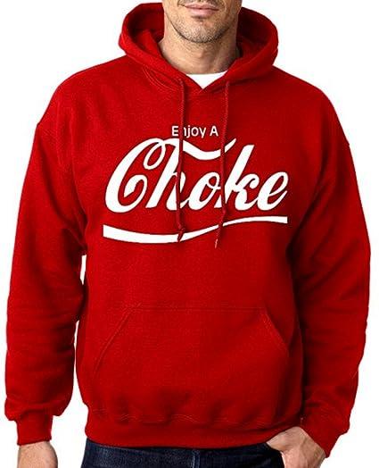 639fd3fb9ae7b Amazon.com: Enjoy A Choke Men's BJJ, MMA Red Hoodie S-3XL: Clothing