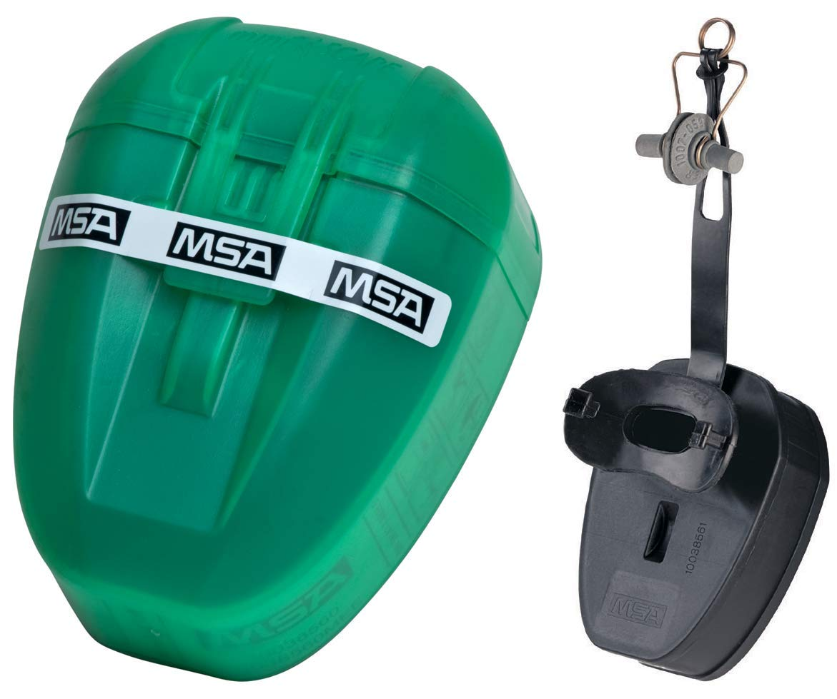 MSA MiniScape, Dispositivo filtrante de escape con boquilla y pinza nasal, DIN 58647 ABEK