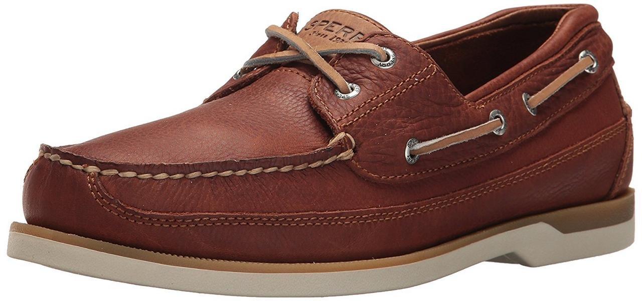 SPERRY Men's Mako 2-Eye Boat Shoe, tan, 9.5 Medium US