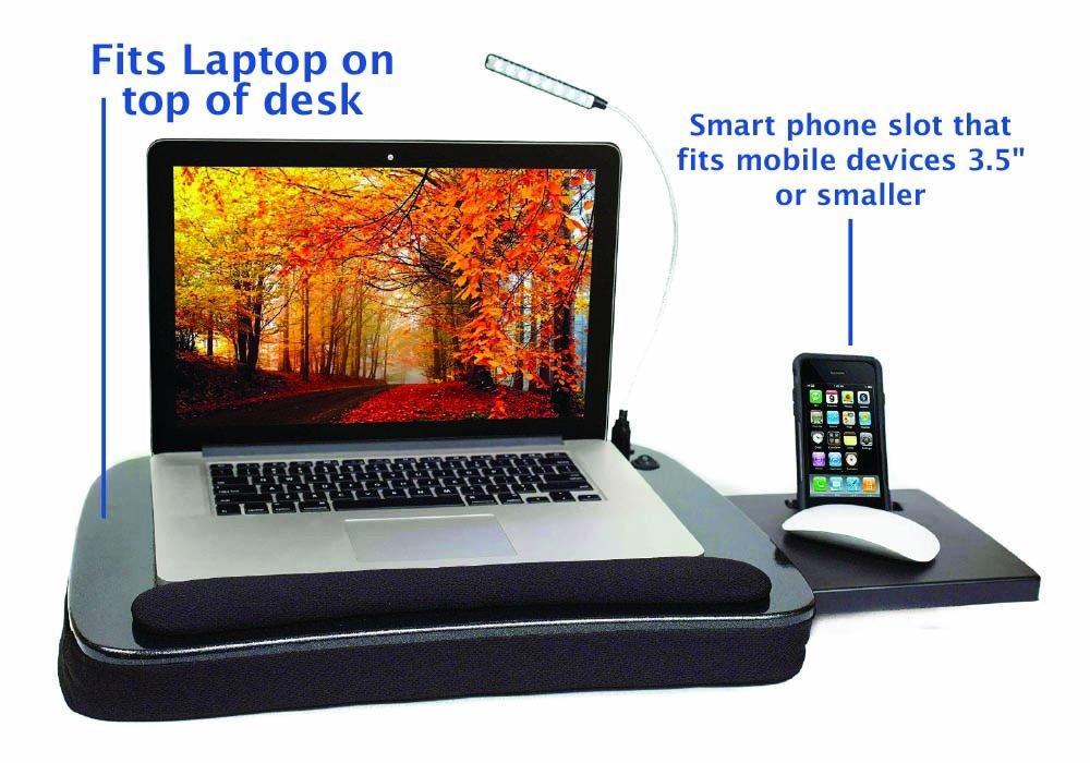 Sofia And Sam Black Multi Tasking Memory Foam Lap Desk