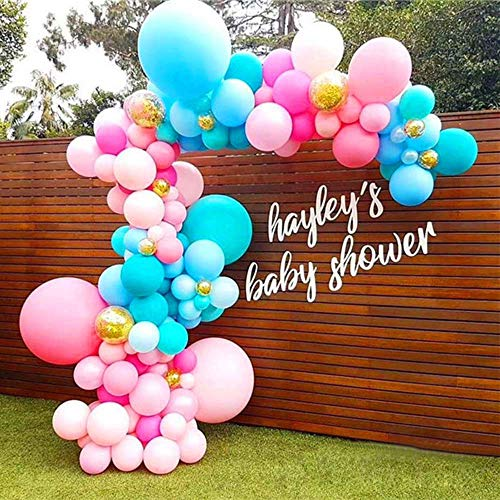 Pausseo 5m Transparent Soft Balloon Chain Tape Arch Connect Strip for Wedding Birthday Party Decor Christmas Halloween Decoration