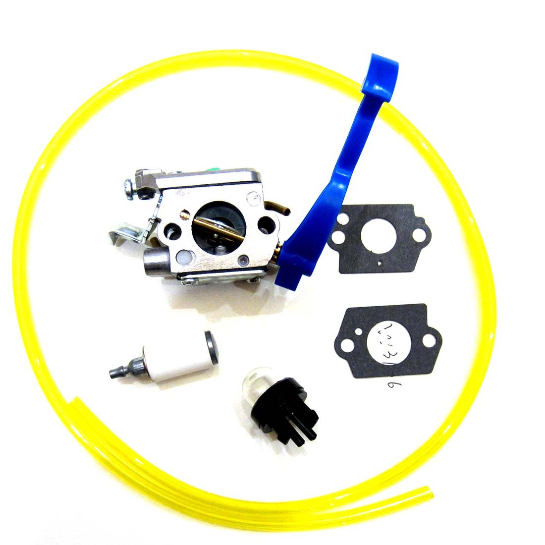 Carburetor & Fuel Line & Grommet for Husqvarna 125B 125BX 125BVX Leaf Blower Trimmer Zama C1Q-W37 Carb 545081811
