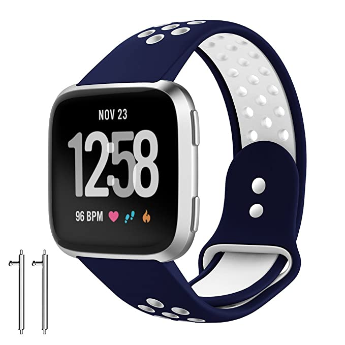 Correa de Reloj Reemplazo, YpingLonk Silicona Suave Agujeros de Ventilación Dos Tonos para Fitbit Versa
