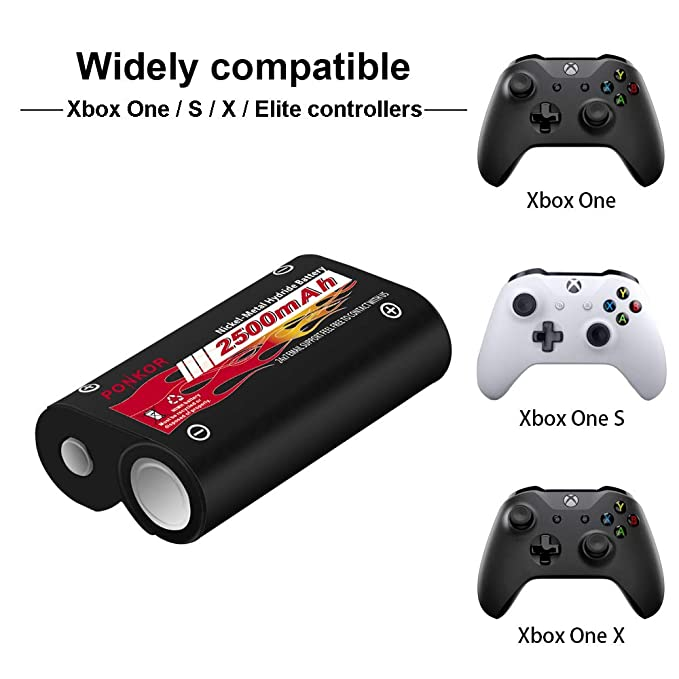 Xbox One Controller Battery, High-Speed Charging Rechargeable Battery Pack for Xbox One/Xbox One S/Xbox One X/Xbox One Elite Wireless Controller