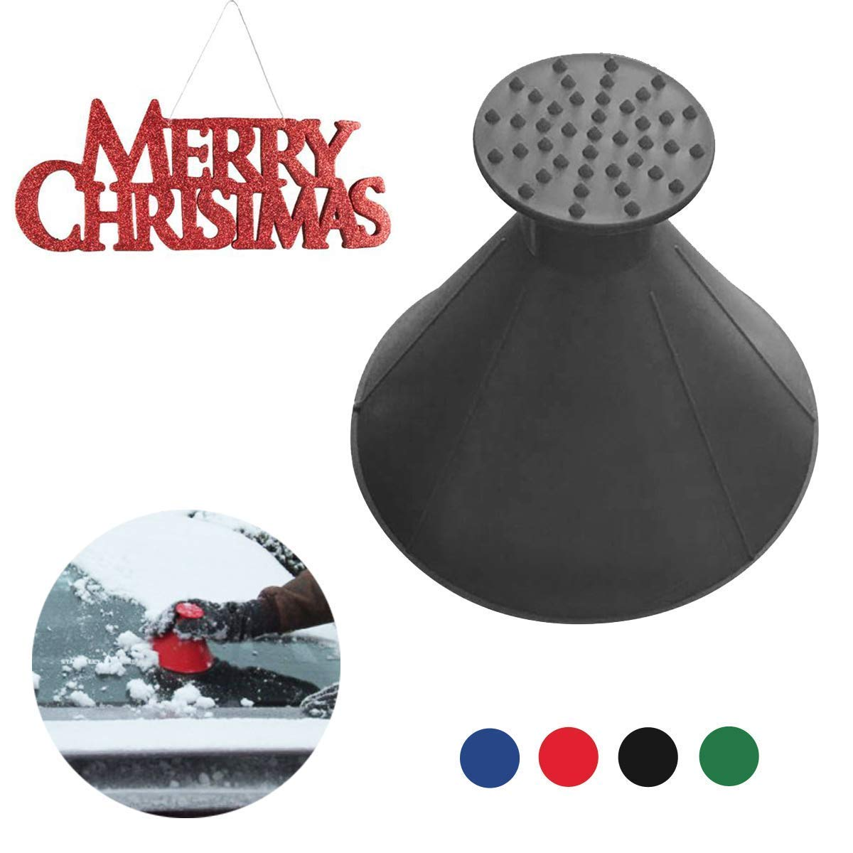 Magic Scrape A Round Cone Shaped Ice Scraper Car Windshield Snow Cone Windshield Snowhovel Tool Will Scrape Pesky Frost and Ice from Windscreens and Side Windows with Ease (Blue) 7-18Day Delivery Great Home