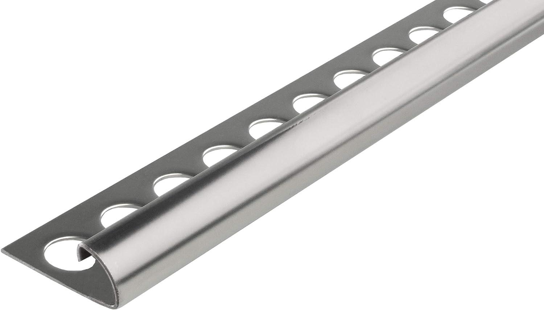 Altura: 9mm PREMIO perfil de baldosas cuarto de c/írculo inox acero V2A brillante 2,5 MEDIDOR 250cm longitud perfiles 1mm material