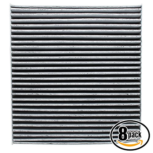 8-Pack Replacement Cabin Air Filter for 2004 Nissan Maxima V6 3.5 Car/Automotive - Activated Carbon, ACF-10140