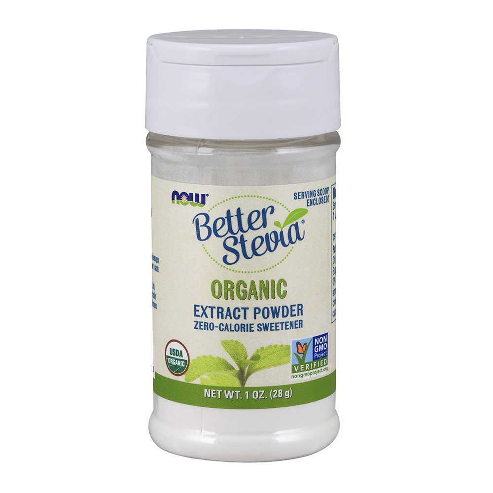 NOW Foods Better Stevia Organic 1-Ounce (Pack of 4)