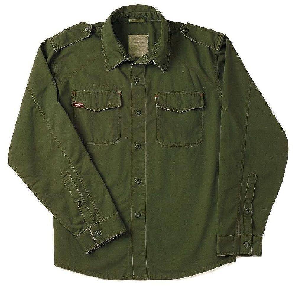 Amazon.com  Od Green Vintage Vietnam Era Military Poly Cotton Bdu Fatigue  Shirt  Clothing e5c5bfb63a29