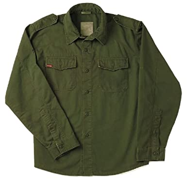Amazon.com  Od Green Vintage Vietnam Era Military Poly Cotton Bdu ... 47b15068593