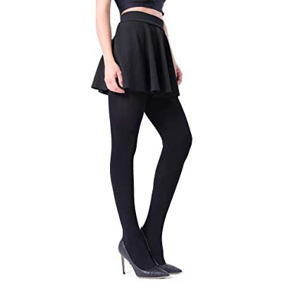 Fitrell Opaque Tights For Women Fashion Control Top Pantyhose 1-3 Pairs at Women's Clothing store