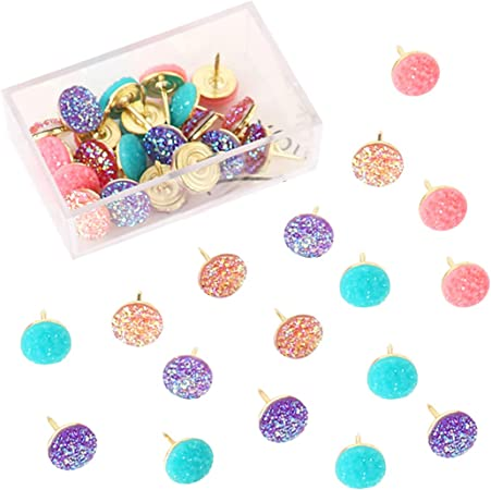 CANDY STRIPE DECORATIVE PUSH PINS THUMB TACKS 4 CORK NOTICE BOARD LOVELY COLORS