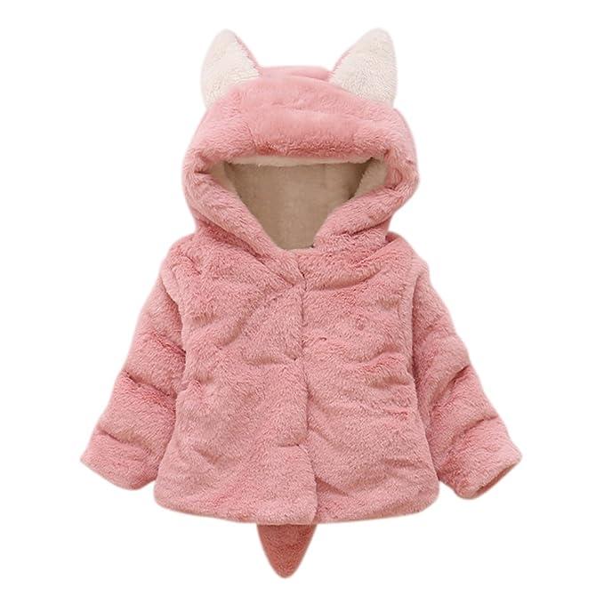 Baywell Ropa Bebé Chaqueta de Abrigos cálidos para bebés, Abrigo de Piel Ultra Gruesa Orejas