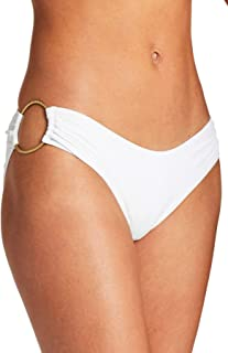 product image for Vitamin A Women's White EcoRib Superstar Ring Side Hipster Bikini Bottom