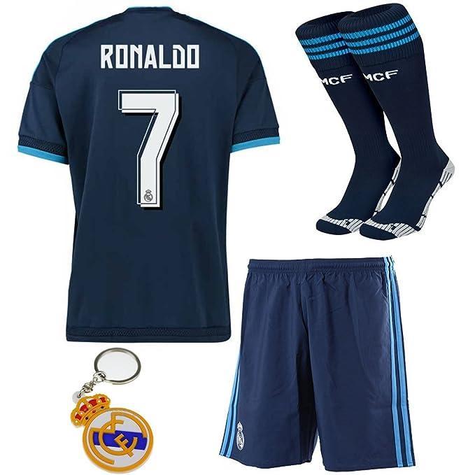 bf7c15c24a23b Real Madrid 2015 2016 RONALDO   7 de distancia azul fútbol fútbol niños  Jersey Ropa