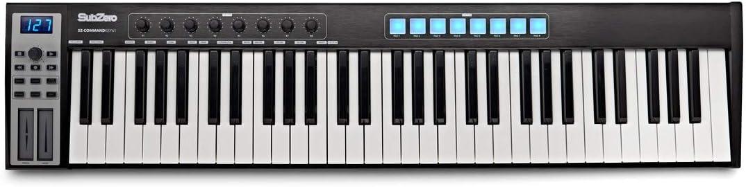Controlador MIDI de Teclado SubZero CommandKey61: Amazon.es ...