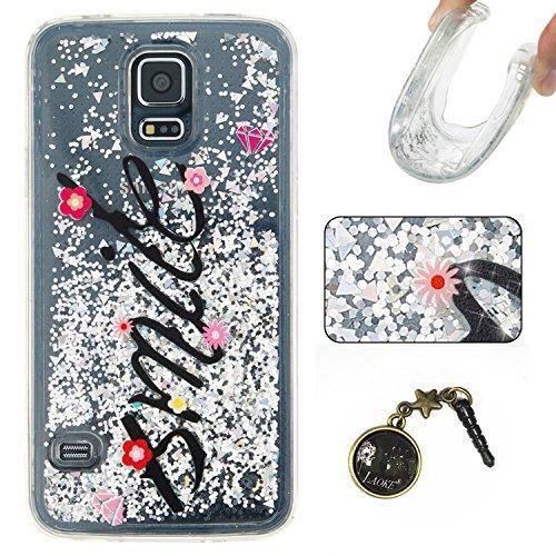 Para Samsung Galaxy S5/i9600móvil, 3d fließen líquido para trucha, arenas movedizas estrella Bling Lujo Shiny brillo Sparkle Cristal Crystal Multicolor de amor diseño Satisfacción Bolsa Funda Para Sa 5
