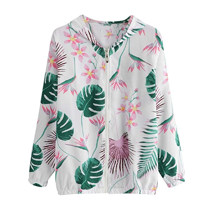070a8f9014ec Amazon.com  Womens Retro Floral Printing Zipper up Bomber Jacket Casual Coat  Outwear  Clothing