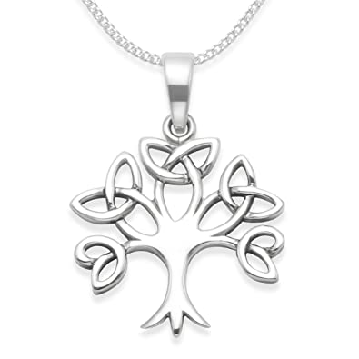 Sterling silver celtic tree of life necklace on silver chain tree sterling silver celtic tree of life necklace on silver chain tree of life pendant celtic pendant size 19mm x 18mm 8099 gift boxed aloadofball Choice Image