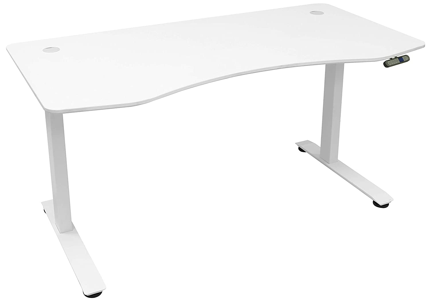 MotionWise SDD60W Manager Series Dual Motorized Rising Sit Stand Desk for Home Or Office, Snow White
