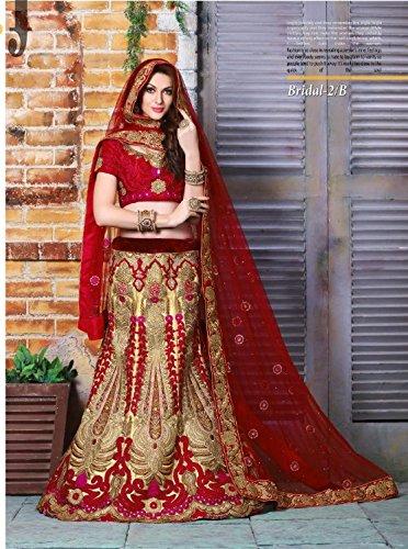 Hit Festival Party Wear Red Bridal Heavy Lehenga Choli Dupatta Salwar Suit Ceremony Dress Ethnic Designer Women Hijab Indian
