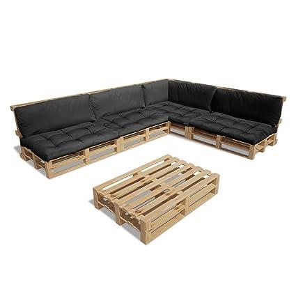 Amazon.de: vidaXL 15tlg. Holz Palettenmöbel Lounge ...