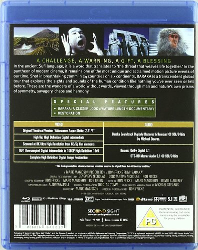 Baraka: Remastered (Blu Ray) [Reino Unido] [Blu-ray]: Amazon ...