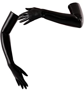 Amazon com: AvaCostume Latex Rubber Arm Long Gloves More