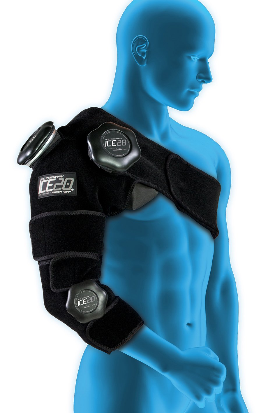Ice20 Combo Arm Ice Therapy Wrap Sports Outdoors Cool Cold Ice2 Cooling Pad 156 Inch