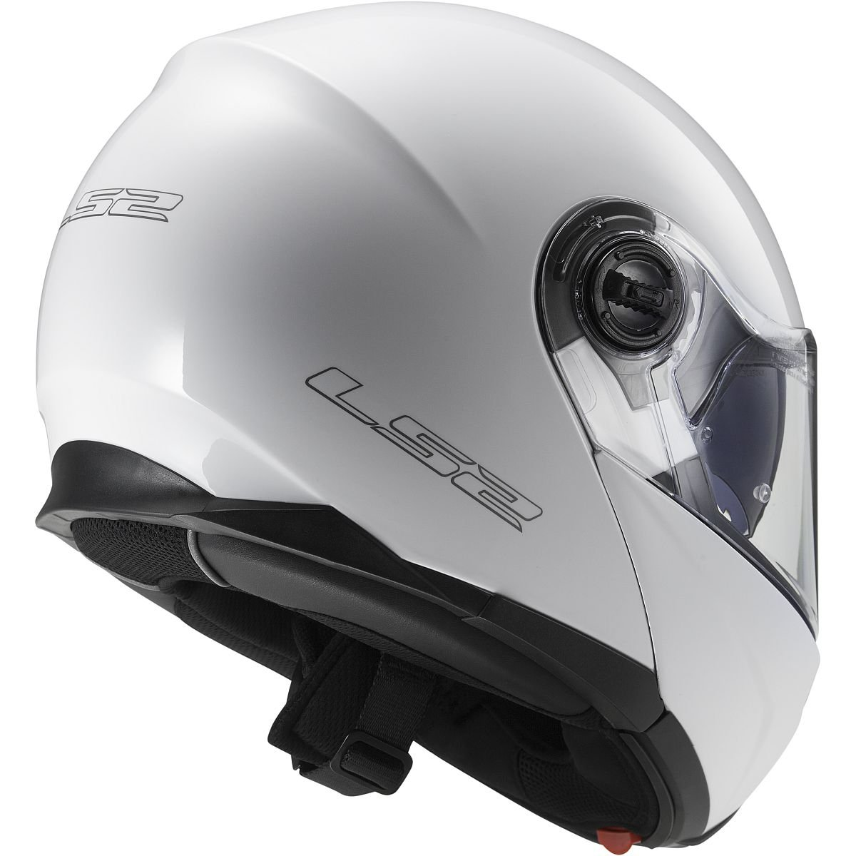 White, XX-Large LS2 Helmets Strobe Solid Modular Motorcycle Helmet with Sunshield