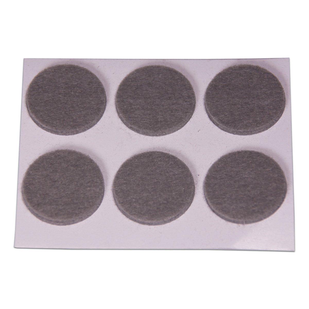 Brinox B76120M Deslizadores de fieltro sint/ético Marr/ón Set de 12 Piezas 20x23 mm