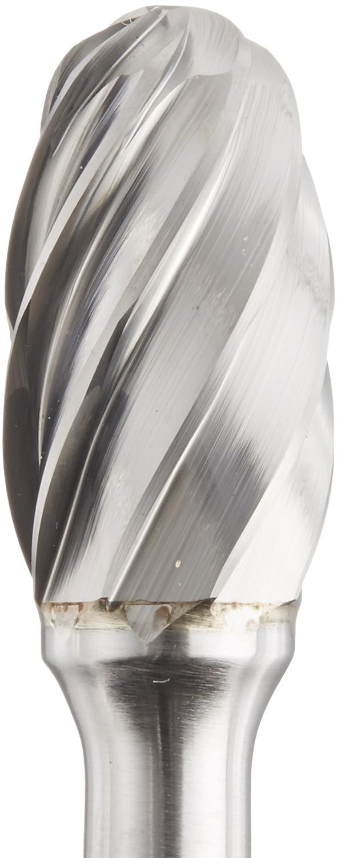 1//2 Head Diameter 1//4 Shank Diameter Shape E SE-5NF Cobra Carbide 10767 Micro Grain Solid Carbide Oval Burr Alumina Cut 7//8 Cutting Length Pack of 1