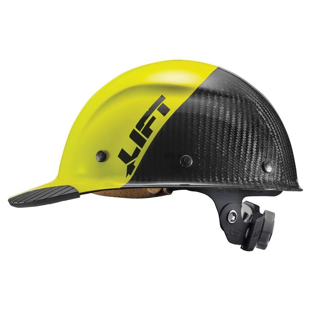 Lift Safety DAX Carbon Fiber Cap Brim 50-50 Yellow//Black