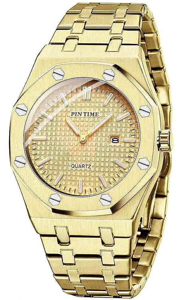 Men s Luxury Business Watch Fashion Casual Minimalist Gift Wrist Watch Analog Date Stainless Steel Gold Silver Black
