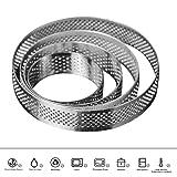 AiChef Circular Stainless Steel Porous Tart Ring