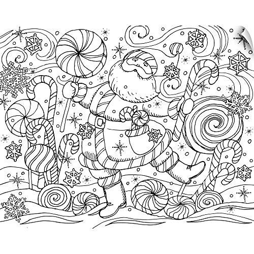 (CANVAS ON DEMAND Peppermint Santa Wall Peel Art Print, 20