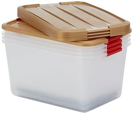 IRIS 100037 Juego de 4 Navidad Cajas para 48 Bolas Pro Box, Caja con Tapa