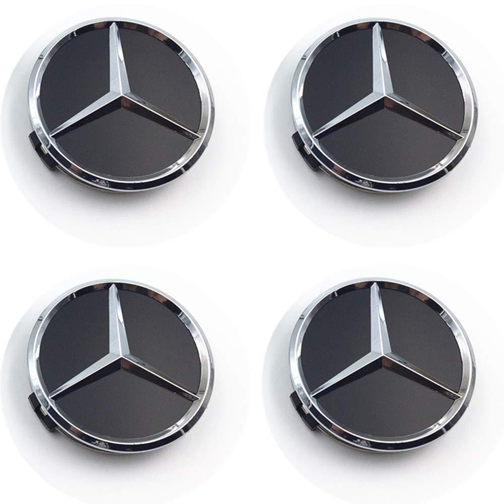 Schwarz,Style-1 YMMY Set 4X Radnabenabdeckung Ersatzteil f/ür Mercedes Benz Durchmesser 75mm Radzierdeckel Lorbeerkranz schwarz Kappe Deckel Nabendeckel Wheel Cap Radnabendeckel Zierdeckel 4 St/ück