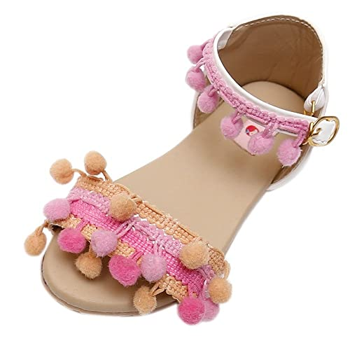 e80d3a7d849 D chica Chic Pom Pom Sandals for Girls  Buy Online at Low Prices in India -  Amazon.in