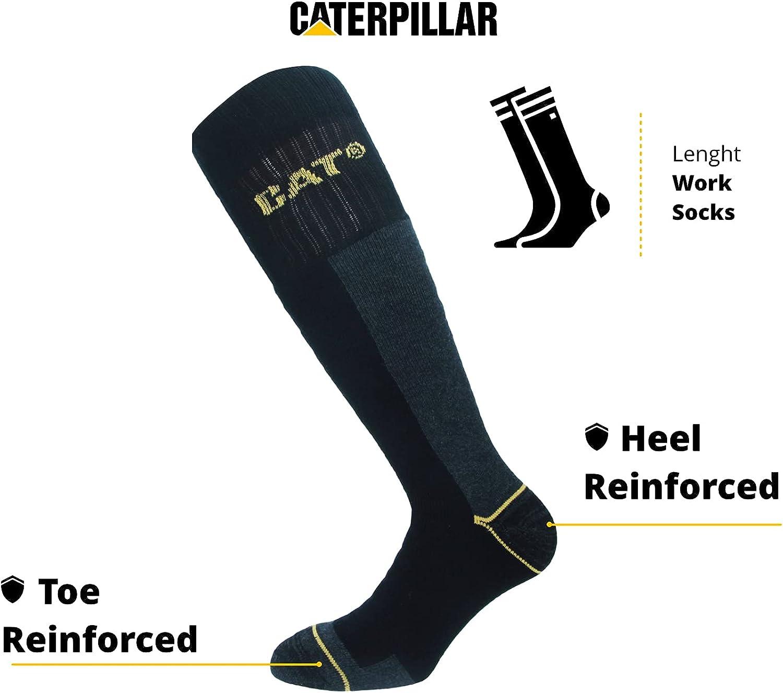 CAT Caterpillar 4 Paire De Travail Hommes Long Chaussettes de prévention des accidents renforcé sur