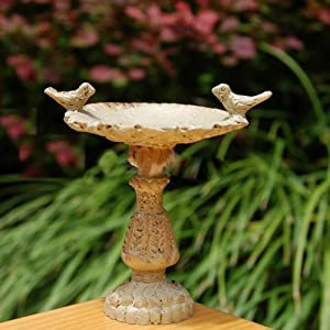 Dollhouse, Miniature Fairy Garden Furniture Resin Vintage Bird Bath Fountain 1/12 Scales For Home Decor Ornaments