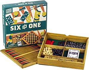 Professor Puzzle 6-in-1 Compendium Wooden Games