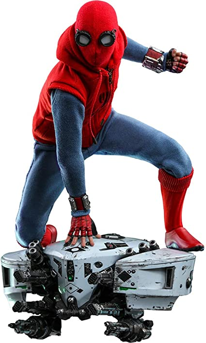 Amazon Com Hot Toys 1 6 Spider Man Homemade Suit Version Toys Games