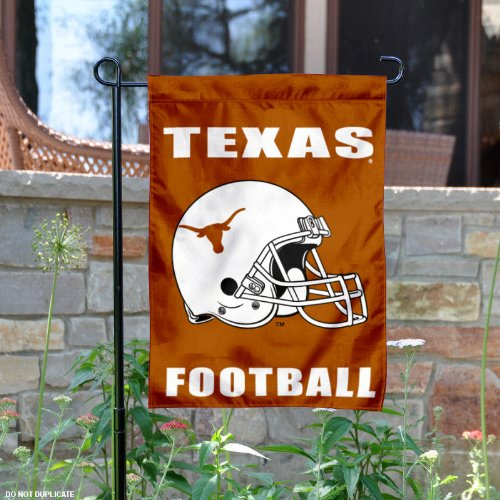 UT Longhorns Football Helmet Garden Flag and Yard - Longhorn Football Ut